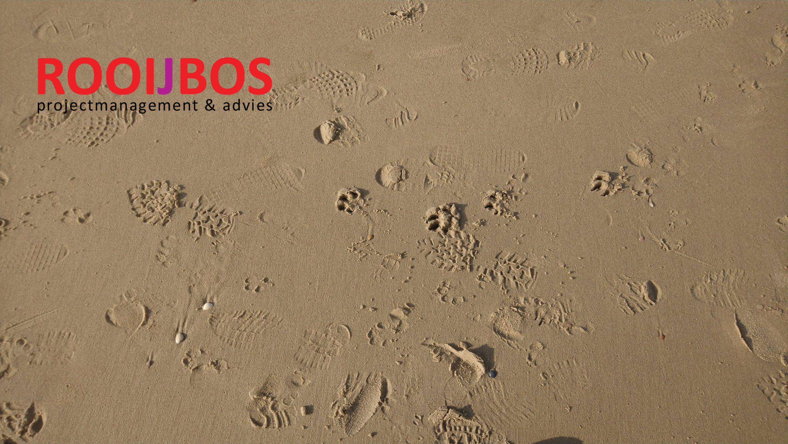 foto van zand met logo Rooijbos